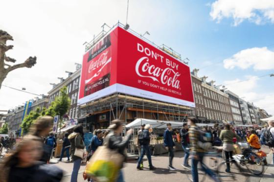 Coca-Cola zet campagne volledig in teken recycling