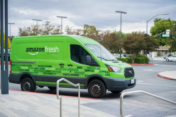 DHL stopt bezorging Amazon Fresh in Dld
