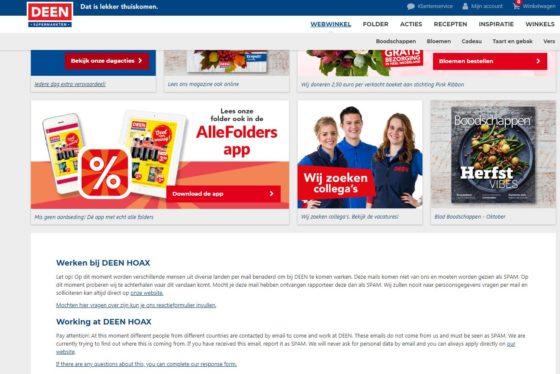 Deen waarschuwt voor e-mail-hoax