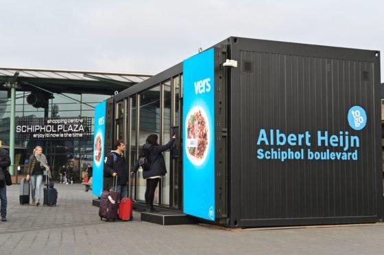 Digitale AH To Go naar Schiphol