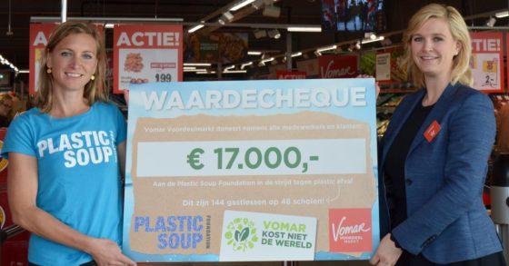 Vomar doneert aan Plastic Soup Foundation
